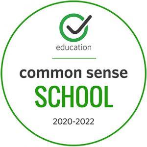 image green and white Common Sense School logo