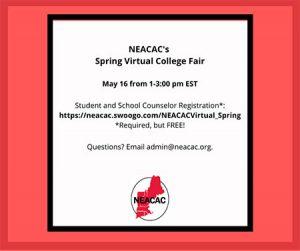 image NEACAC Virtual College Fair flyer
